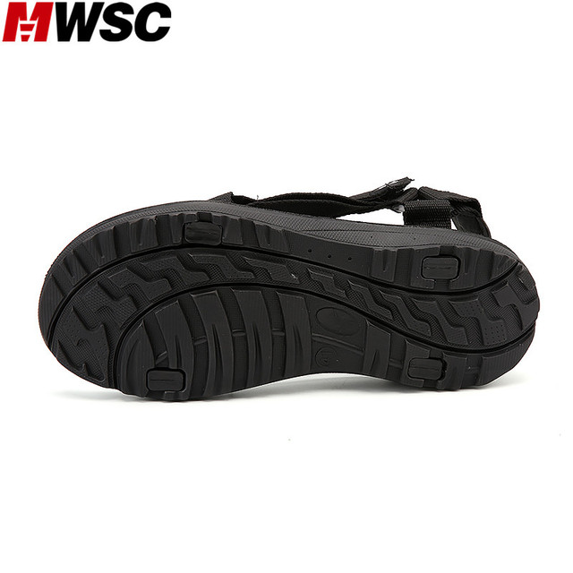 MWSC Summer New Arrival Men's Casual Sandals Shoes Hook&Loop Male Breathable Beach Water Slippers Shoes