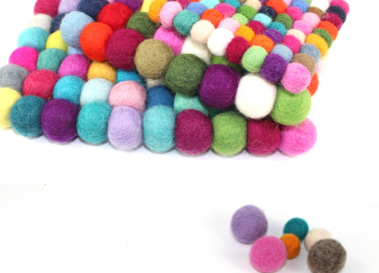 Handmade Wool Round Square Felt Coaster Felt Crafts Cup Pot Mat - Kitchen, Dining and Bar - Photo 6