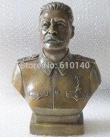 12 Western Книги по искусству бронза Медь скульптура Иосифа Сталина бюст статуя