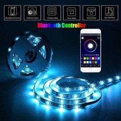 USB шкаф лампа RGB светодиодный светильник полоса лампочка подсветка ТВ ПОДСВЕТКА ПК Музыка/RF/Bluetooth контроллер DC5V SMD 5050 Светодиодный светильни...