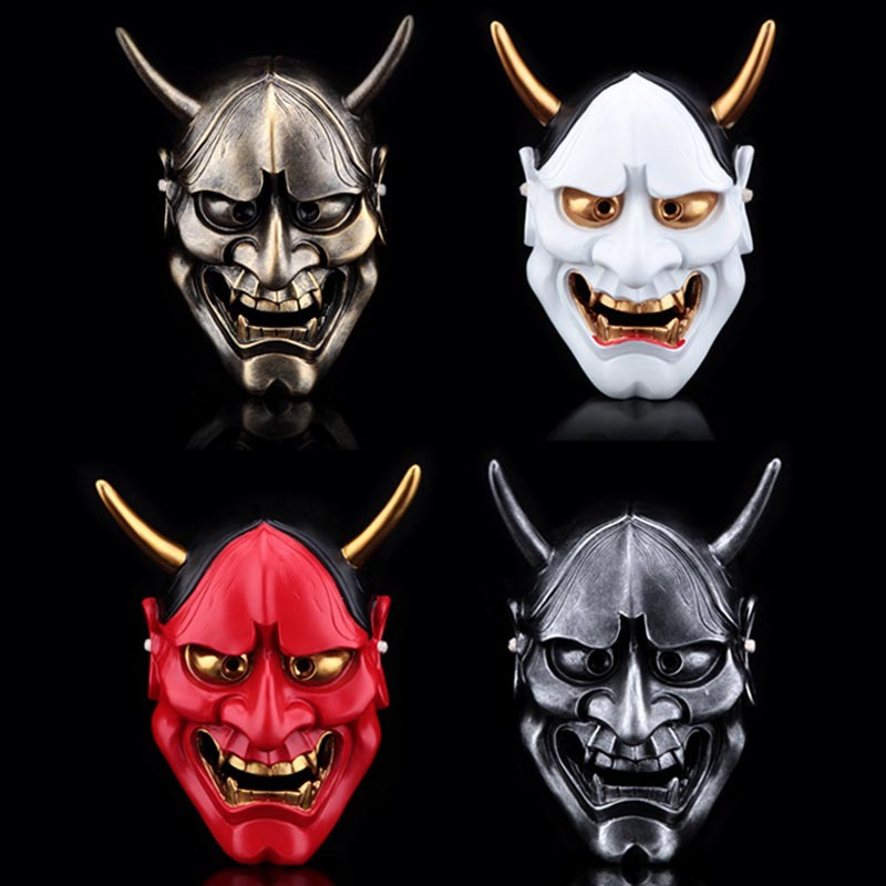 Тегін жеткізу Resin Hannya Mask Carnival Halloween Collective Decorative Japanese Buddhism Prajna Ghost Cosplay Hanya Masks