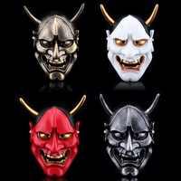 Free Shipping Resin Hannya Mask Carnival Halloween Collective Decorative Japanese Buddhism Prajna Ghost Cosplay Hanya Masks