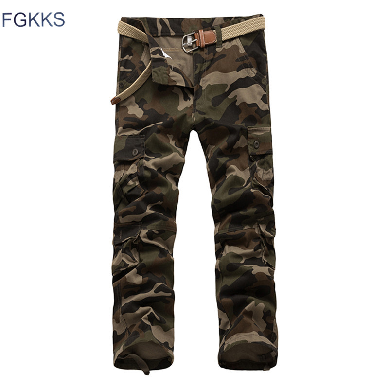 FGKKS 2018 New Arrival Brand Men Pants Spring Fashion Military Mens Cargo Pants Quality  ...