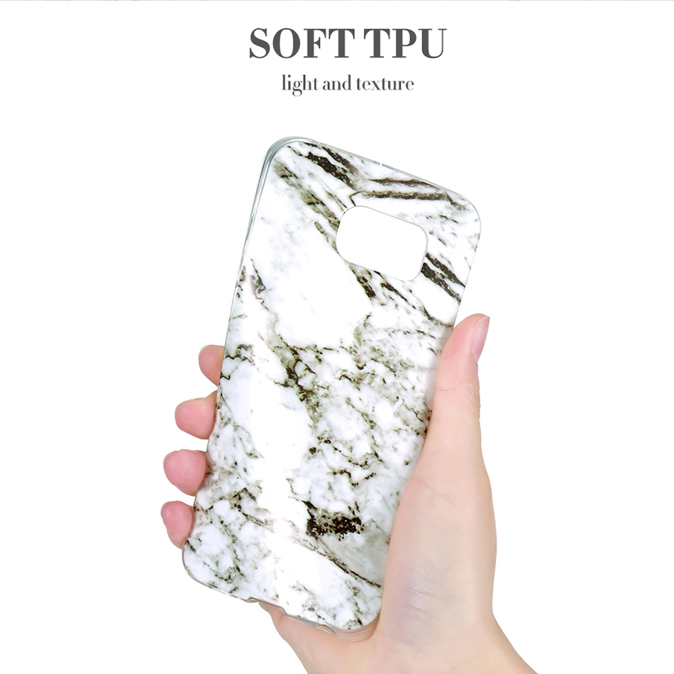 Marble Skin Case For Samsung Galaxy S8 Plus S7 S6 Edge S4 Soft Silicon Phone Cases (6)
