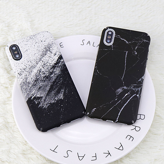 timeless design f3e36 40db3 US $3.29  For iphone X case Black White Marble Pattern Back Cover PC Case  for iphoneX case DILLON GUAN White sand Marble cover Coque Capa-in Fitted  ...
