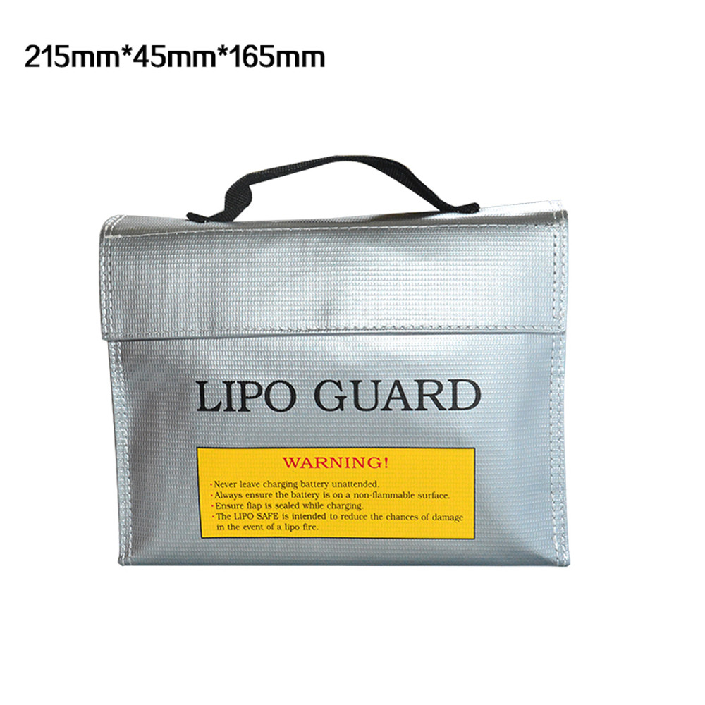 215*45*165MM LiPo Li-Po Battery Fireproof Safety Guard Safe Bag Action Remote Control Toys