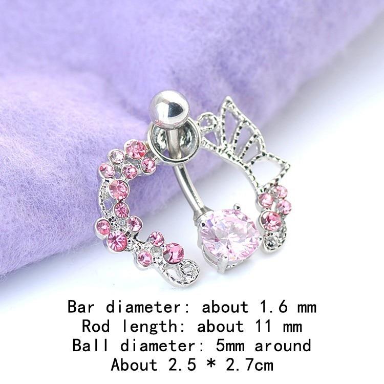 HTB1YvfcIFXXXXc8XVXXq6xXFXXX9 Enchanting Butterfly Garden Hollow Belly Button Ring For Women - 2 Colors