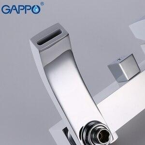 Image 4 - GAPPO Beyaz Lake duş Musluk küvet musluk banyo duş banyo bataryası duvara monte yağış duş seti musluk bataryası Kiti