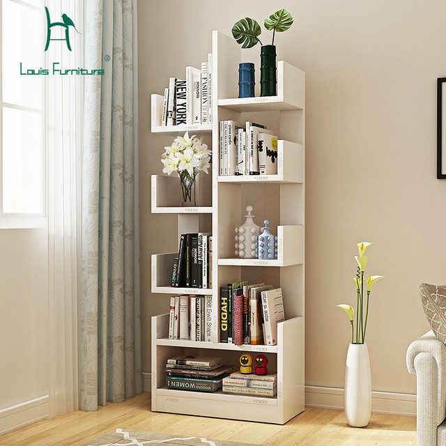 Louis Fashion Bookcases Bookshelf Landing Modern Children Shelf Creative Living Room Storage Cabinet Simple Locker