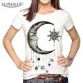 YEMUSEED Women Fashion Hipster Sun and Moon Cartoon Printed Tops Tumblr Harajuku Pencil Drawing 3D T shirt Tees Plus Size XL