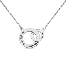 AILIN Customized Double Russian Circle Necklace Infinity Necklace In Sterling Silver Mothers Necklace For Mother's Day Gift цены