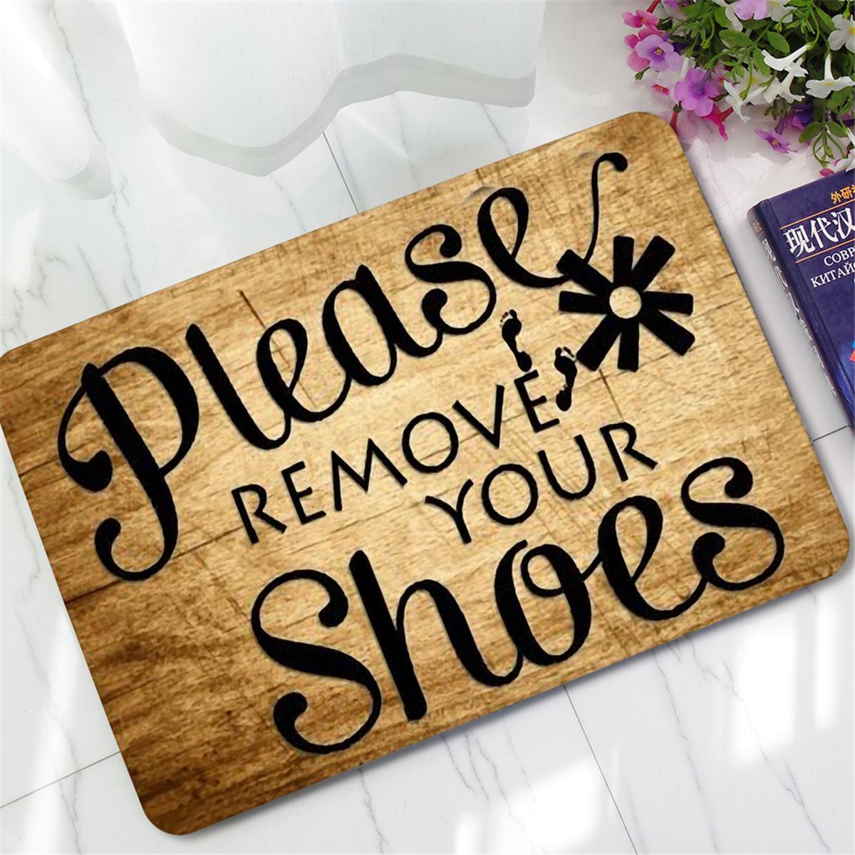 Doormat please remove shoes doormat images Funny Please Remove Your Shoes Doormat Carpet Rubber Non Slip ...