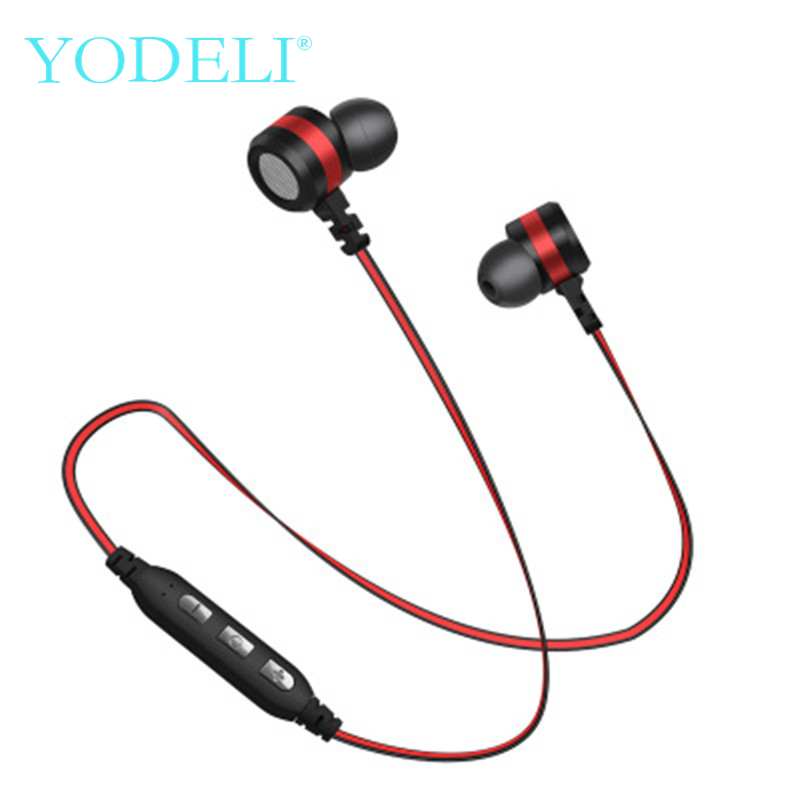 YODELI Sport Bluetooth Headphones Support TF Card Wireless Bluetooth Earphone Stereo Headset with Microphone For iPhone Android bluetooth headphone with microphone wireless headphones support tf card fm radio stereo bass gaming headset for pc ios android