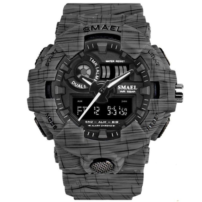 Relogio Masculino Men Sport Watches Outdoor Waterproof Military Digital Wristwach Fashion Camo Kids Boy Watch Clock Saati Erkek