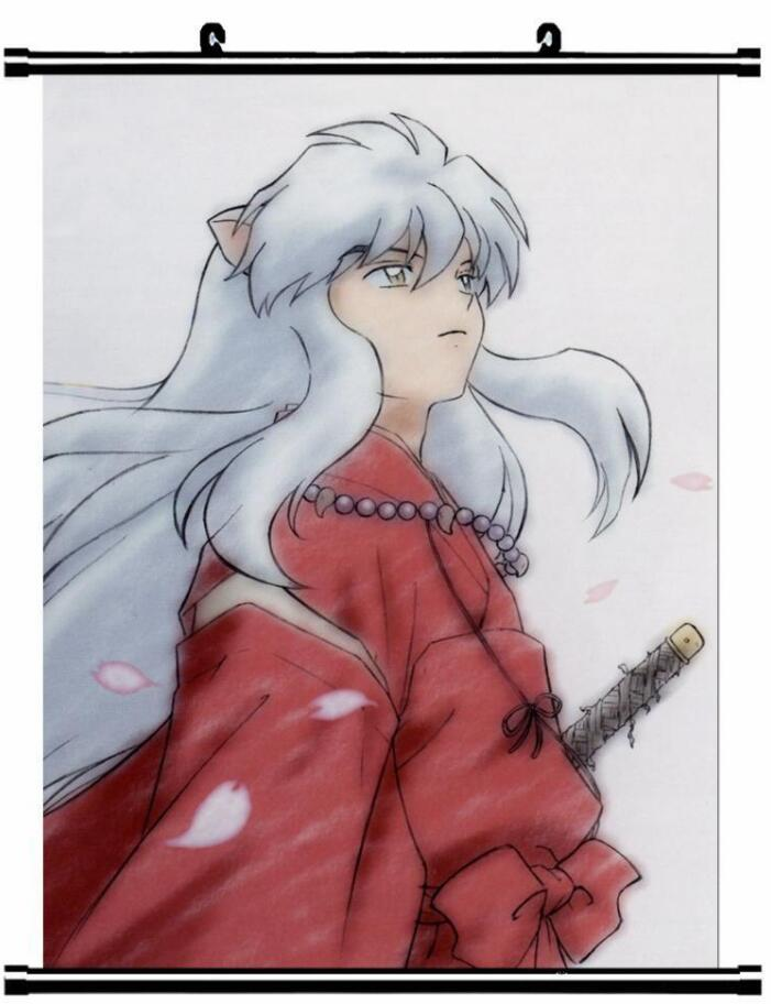 Home Decor Anime Poster Wall Scroll Hot Inuyasha Sesshomaru Cosplay