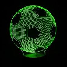 Lampa 3D Piłka Nożna Illusion 7-Kolorów LED USB