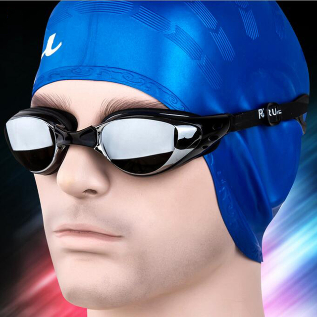 Men Women Swim Glasses Anti Fog UV Protection Swim Eyewear Professional Electroplate Waterproof Swim Goggles