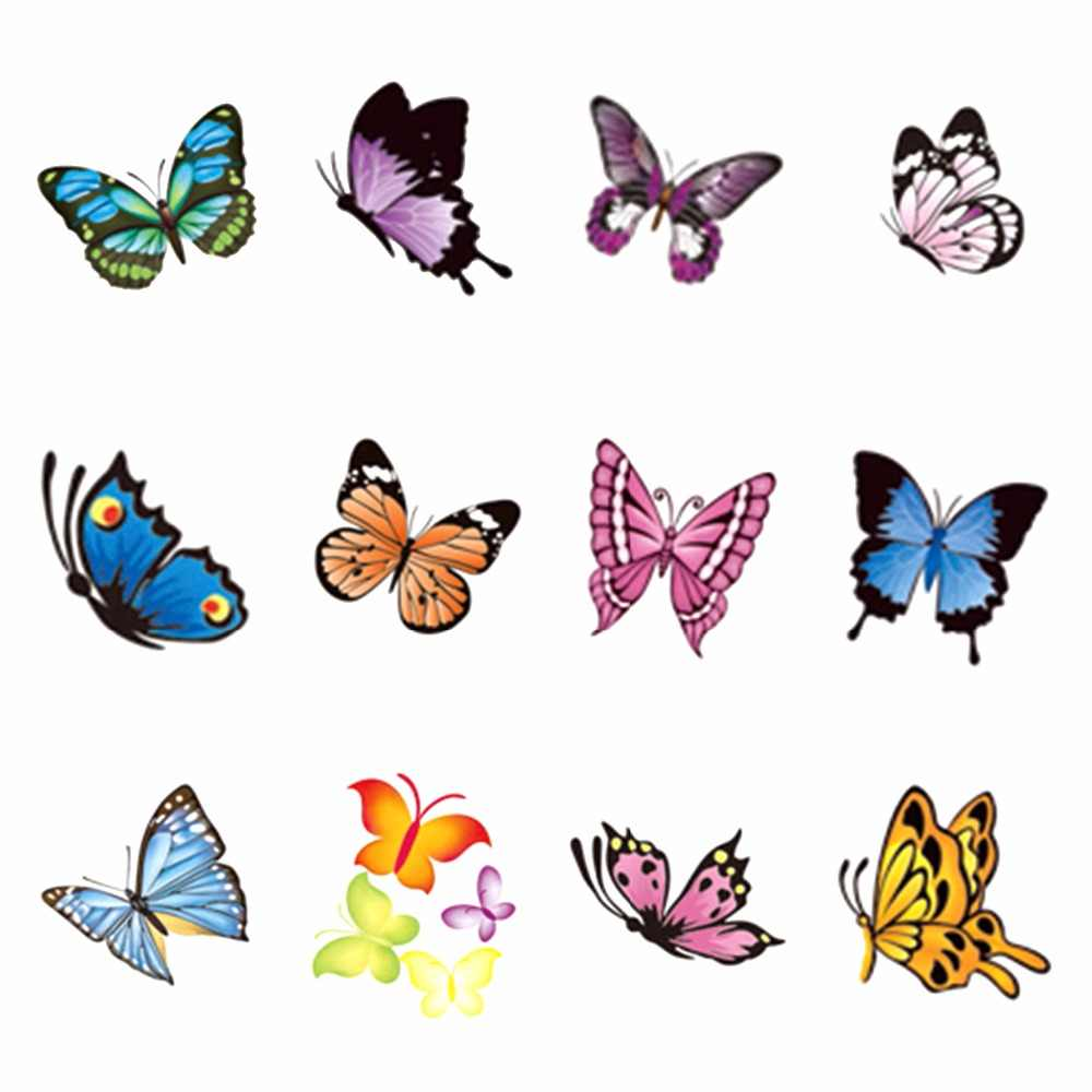 YZWLE 1 Sheet Optional Butterfly Series Nail Sticker Water Decals Nail Art Water Transfer Stickers For Nails
