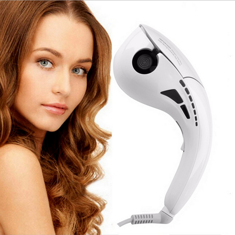 Hot Sale Mini Automatic Hair curler Hair Styling Tools Roller Hair Curling Machine LCD Screen Digital Display #521 hot sale mini hair curling machine hair perming machine apple shape 24v output color black