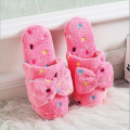 Hot Sale Autumn Winter Warm Lovely Velvet Soft Plush Slipper Women Ladies Home Non-silp Bowknot Slippers Indoor Shoes