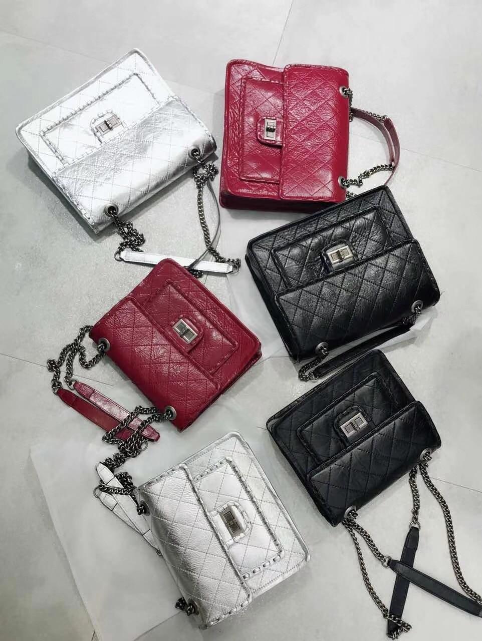 Kafunila 2018 new arrival square genuine leather women handbags famous brand designer chain ladies shoulder crossbody bags bolsa цена
