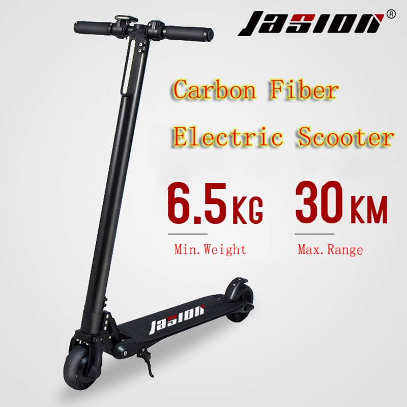 New 10AH Powerful Electric Scooter fully carbon fiber electric scooter Folding Portable E-Skateboard steering-wheel Kick Scooter wuliang l1 carbon fiber electric scooter mini portable folding electric scooter
