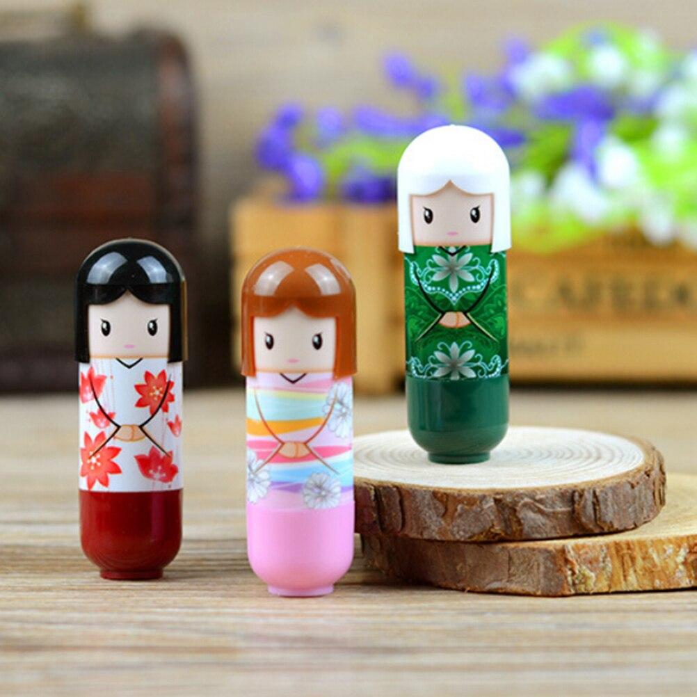 Liquid Moisturizing Gloss Lip Lipstick Lip Cartoon Kimono Doll Waterproof Lip Balm Pencil Pen Makeup Color Random