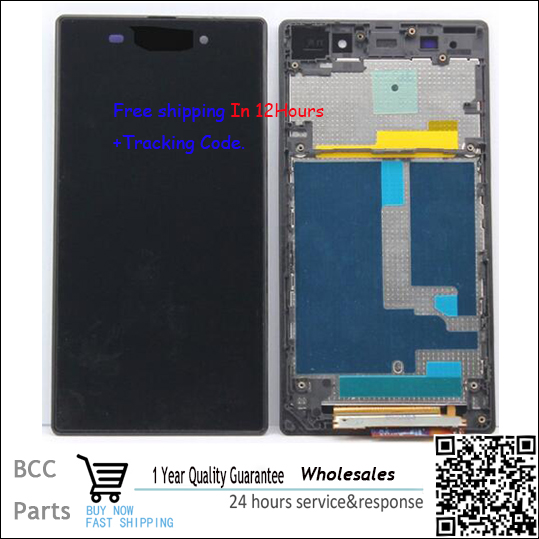 A+++quality 100% new White Black For Sony Xperia Z1 L39H LT39 C6902 C6903 LCD display+Touch screen Panel Digitizer with frame