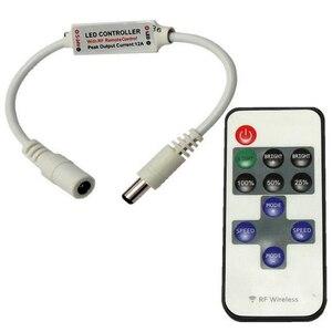 Image 2 - 1 Pc Mini Wireless RF Led Điều Khiển Từ Xa Led Dimmer Điều Khiển Cho Màu Duy Nhất Dải Ánh Sáng SMD5050/3528/ 5730/5630/3014