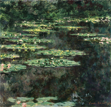 Unframed Canvas Painting Claude Monet Water Lilies wall decor oil Phonto Printed Oil Reproduction