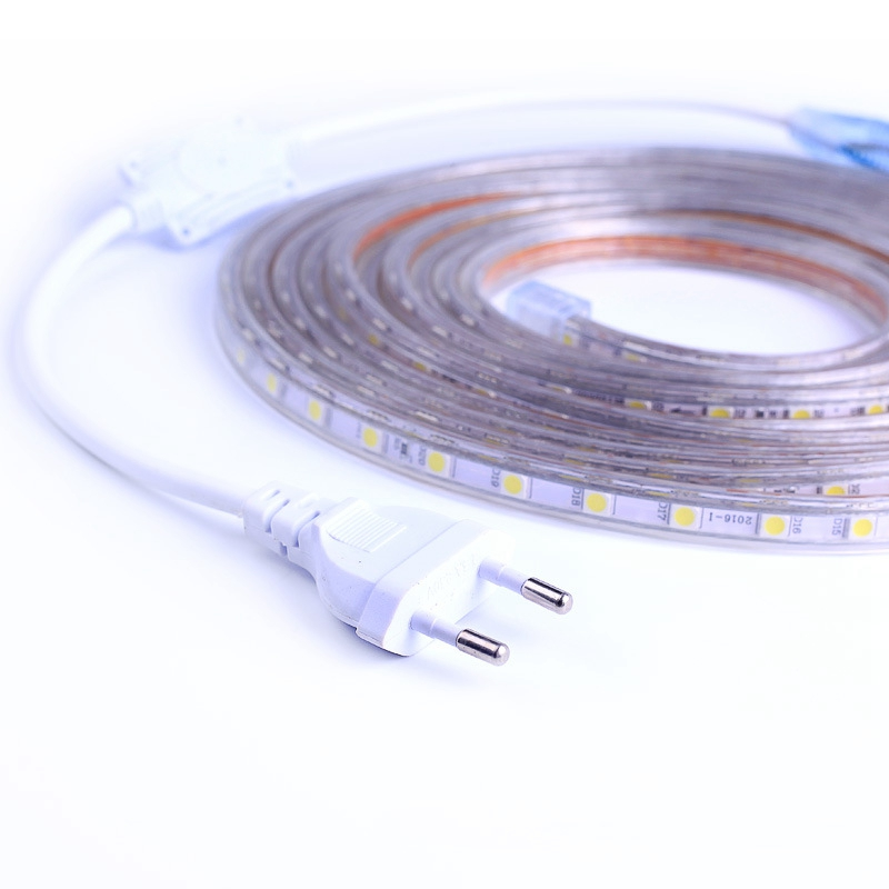 5050 220V 60LEDs/m LED Cabinet Light Flexible Lamp Strip Aluminum Alloy Waterpoof Kitchen Home Decoration Lighting With EU Plug
