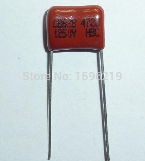 20pcs CBB Capacitor 472 1250V 472J 1.25KV 4700pF 4.7nF P10 CBB28 Metallized Polypropylene Film Capacitor