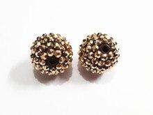 Neueste! 20mm 100 pcs/lot Bronze farbige Harz Strass Ball Perlen, Chunky Perlen Für Kinder Schmuck Machen