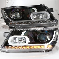 For Dodge Journey JCUV Fiat Freemont LED Head Lamp with HID kit 2009 2014 Year LF