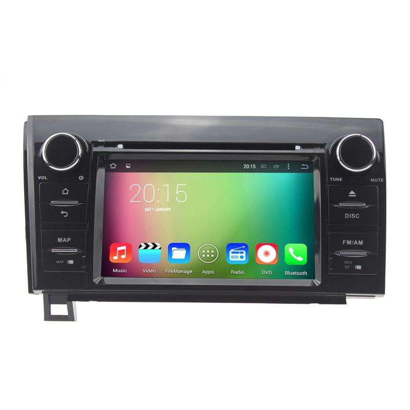 Восьмиядерный 1024*600 Android 6.0 Автомобильный DVD GPS навигации мультимедийный плеер стерео для Toyota Tundra Sequoia с бесплатная Географические карты
