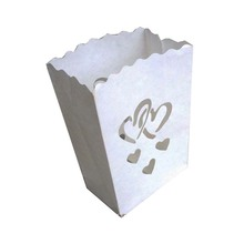 500pcs Heart style Candle Bag Luminaries paper wish lantern wedding party event decoration