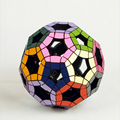 Verypuzzles Hollow Football Shape Stress Reliever Magic Cube Speed Square Educational Brain Teaser Puzzle Cube Toys for Children