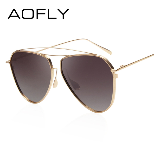 AOFLY Fashion Polarized Sunglasses Female Double-Bridge Women Brand Designer Polaroid Sun Glasses Eyeglasses Shades With Case