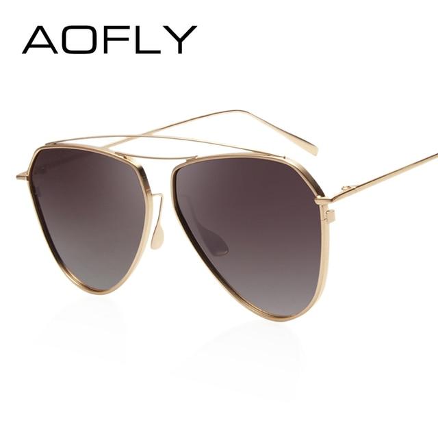 AOFLY Fashion Polarized Sunglasses Female Double-Bridge Women Brand Designer Polaroid Sun Glasses Eyeglasses Shades With Case