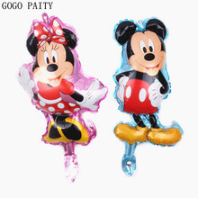 GOGO PAITY  Mini Mickey Minnie Cartoon Aluminum Balloon Baby Child Birthday Hundred Days Banquet Decorative Arrangement Aluminum