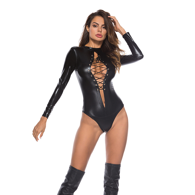 PU Leather Catwomen Bodysuits  4