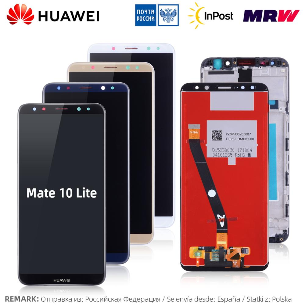 10 Lite LCD Touch Screen With Frame Huawei Mate Display Nova 2i RNE-L21