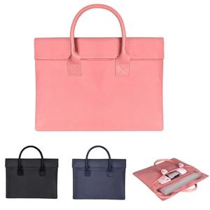 Image 1 - Laptop Bag Nylon Waterproof Laptop Case Business Laptop Sleeve For Women 13.3 14.1 15.6 inch for Macbook Pro Case Men