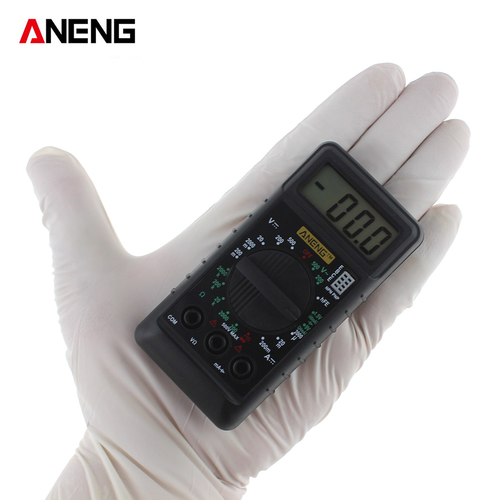 ANENG Mini Pocket Digital Multimeter with Alarm Protection against Voltage Ampere Ampere Ohm AC DC LCD Portable LCD vc201vc202vc203 pocket digital multimeter full protection of digital multimeter
