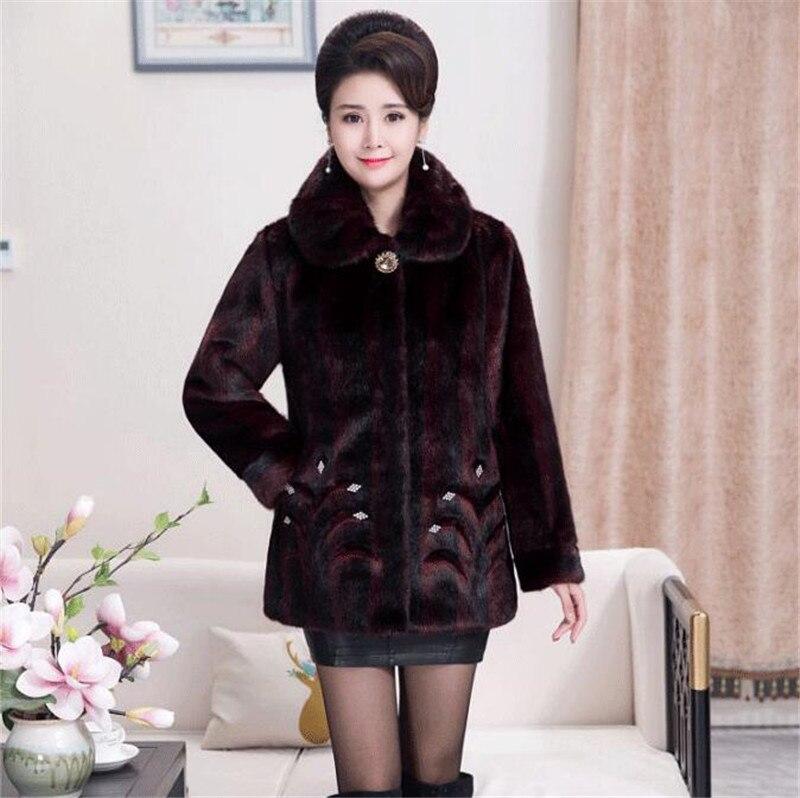 HTB1YviUB3KTBuNkSne1q6yJoXXap 2020 Winter Women's Fur Coat Faux Mink Fur Jackets Plus size 5XL Middle aged Female Diamonds Thicken Noble Fur Coats OKXGNZ 2138