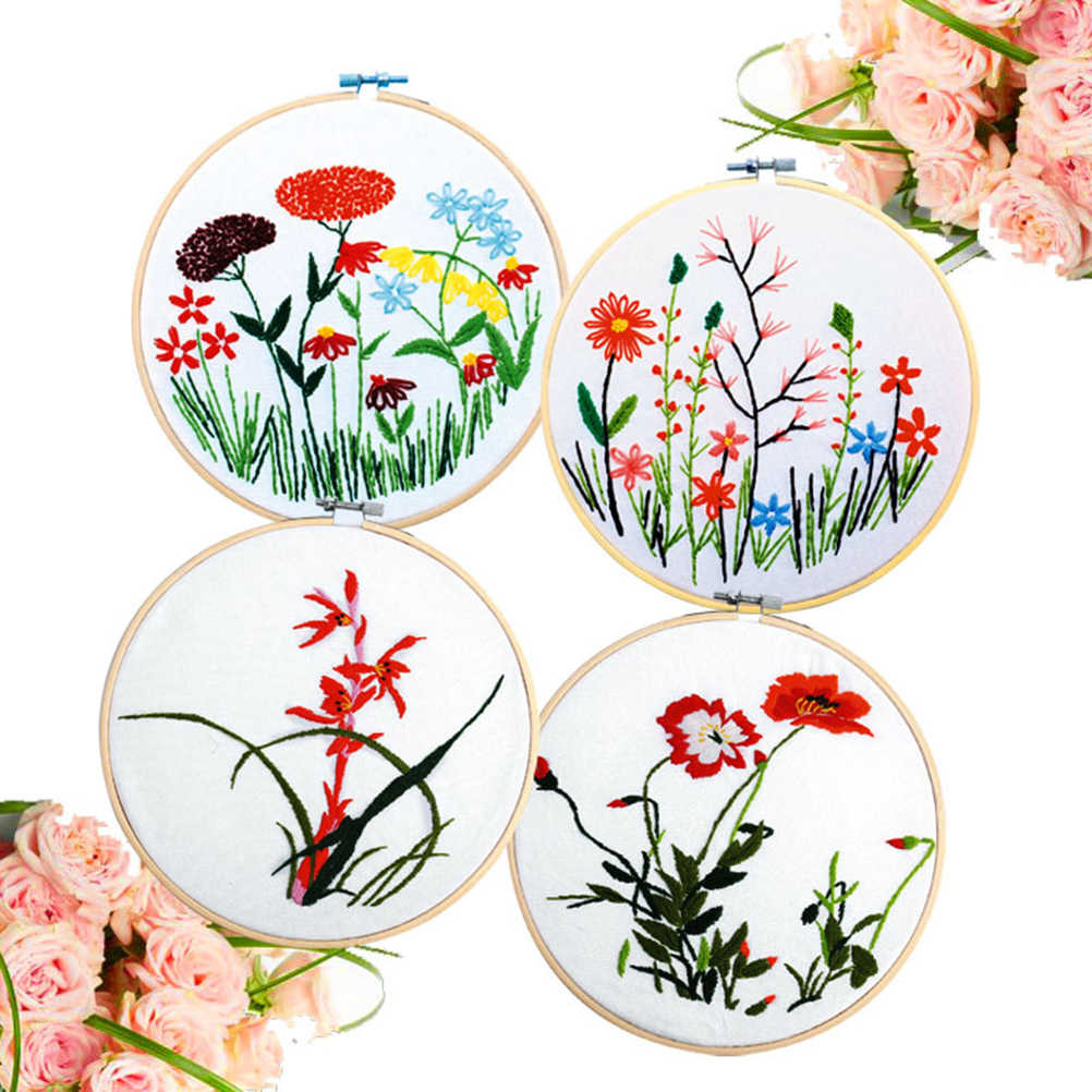 13-34cm Wooden Frame Hoop Circle Embroidery Round Machine Bamboo For Cross Stitch Hand DIY Household Craft Sewing Needwork Tool