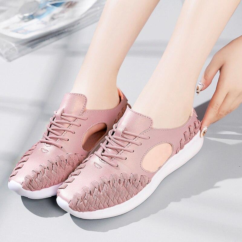 Chaussures Plat Femme forme Plate Nouvelle Pour Femmes Solide Feminino Black Fond Pop Belle pink white Vente Casual Marque wIxFCqF67