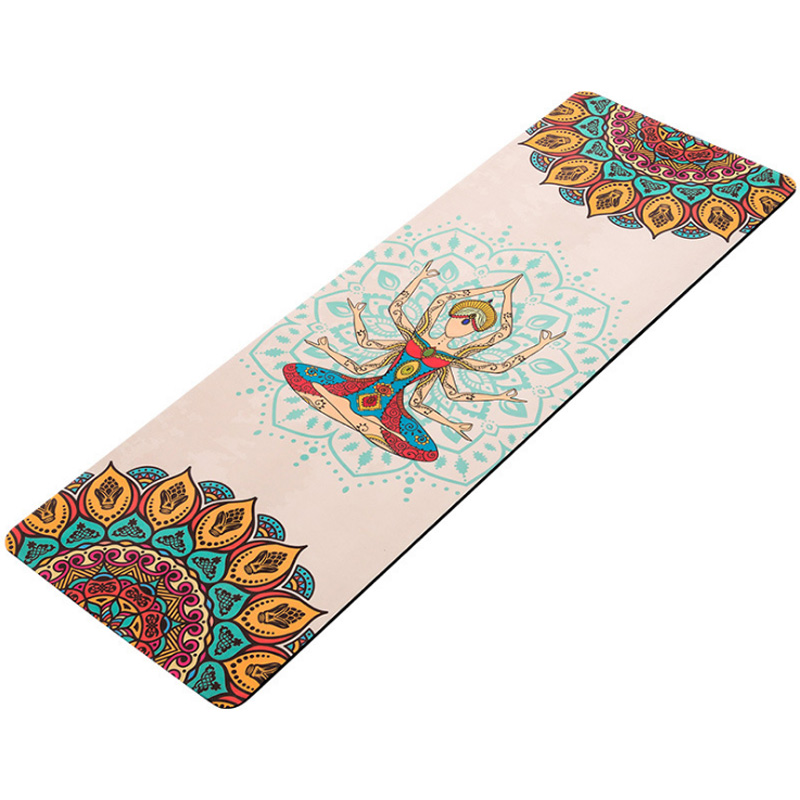 Thickened 5mm natural rubber suede yoga mat printed high-temperature non-slip yoga mat blanketThickened 5mm natural rubber suede yoga mat printed high-temperature non-slip yoga mat blanket