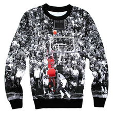 3D Printed Sweatshirts Jordan Last Shot Harajuku Men Pullover Hoodies Crewneck Long Sleeve Hoody Clothing  size S-5XL