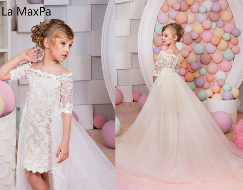 все цены на Childrens wedding party dress Flower beautiful fashion Princess Dress Piano Costumes Performance Catwalk Girls Dresses